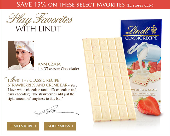 Play Favorites with Lindt - Classic Recipe Strawberries and Cream
